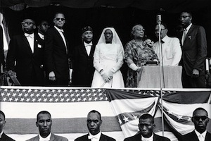 Malcolm X with Elijah Muhammad and Muslim Dignitaries, 1950s
